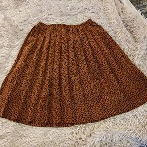 Super fun leopard Requirements skirt size 10